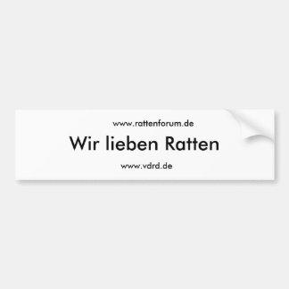 We love rats, www.rattenforum.de, www.vdrd.de bumper sticker