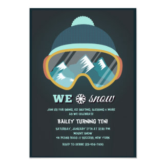 We Love Snow Invitation