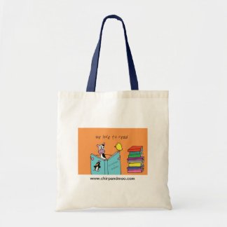 We love to read! budget tote bag