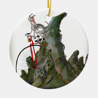 we love yorkshire downhill whippet race christmas ornament