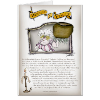 we love yorkshire pudding history card