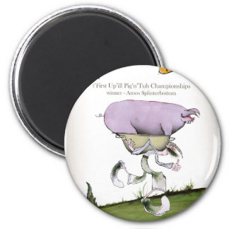 we love yorkshire up'ill pig race magnet