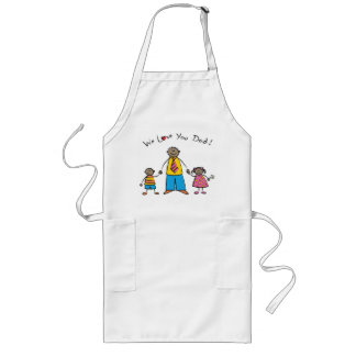 We Love You Dad Cartoon Family Happy Father s Day Aprons