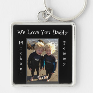 We lOve You Daddy Child Names Customize Keychain
