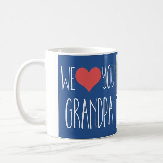 We love you Grandpa multi photo mug
