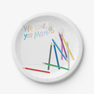 We Love You Mom Paper Plates