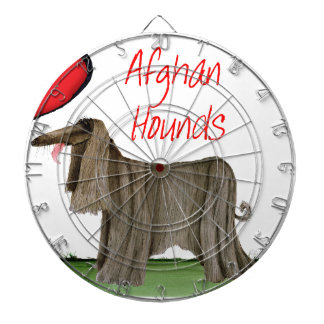 we luv afghan hounds from tony fernandes dartboard with darts