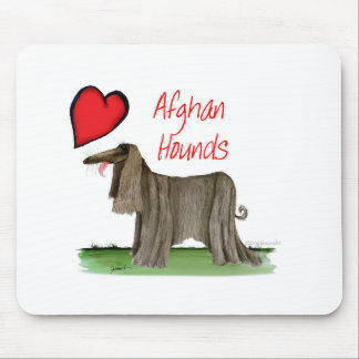 we luv afghan hounds from tony fernandes mouse mat