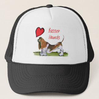 we luv basset hounds from tony fernandes trucker hat