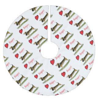 we luv beagles from tony fernandes brushed polyester tree skirt