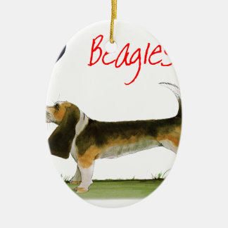 we luv beagles from tony fernandes ceramic oval decoration