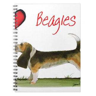 we luv beagles from tony fernandes spiral notebook