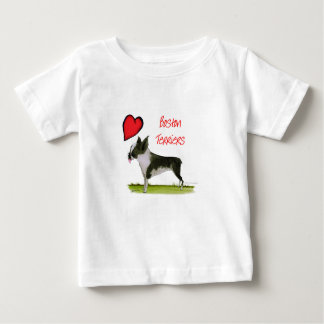 we luv boston terriers from tony fernandes baby T-Shirt