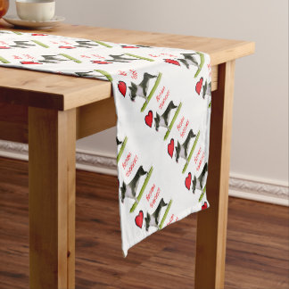 we luv boston terriers from tony fernandes short table runner