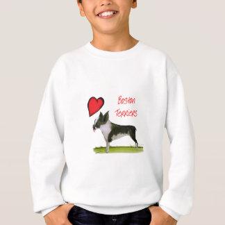 we luv boston terriers from tony fernandes sweatshirt