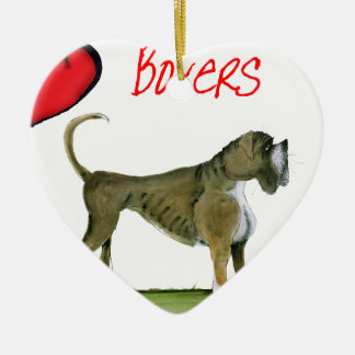we luv boxers from tony fernandes christmas ornament