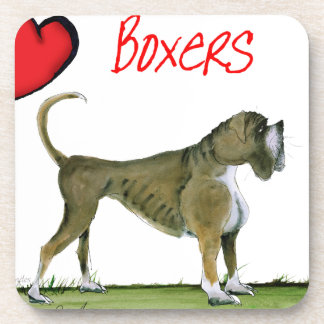 we luv boxers from tony fernandes drink coasters