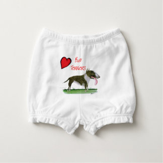 we luv bull terriers from tony fernandes nappy cover