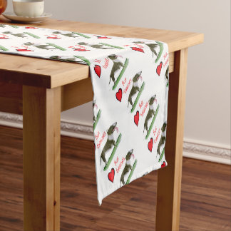 we luv bull terriers from tony fernandes short table runner