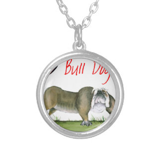 we luv bulldogs from tony fernandes silver plated necklace