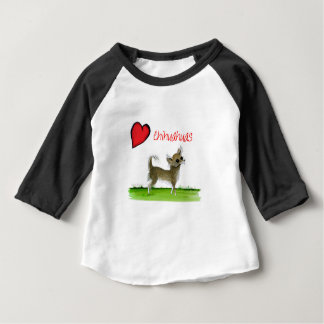 we luv chihuahuas from tony fernandes baby T-Shirt