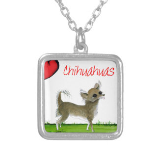 we luv chihuahuas from tony fernandes silver plated necklace