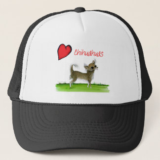 we luv chihuahuas from tony fernandes trucker hat