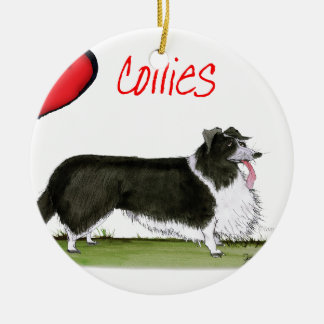 we luv collies from tony fernandes round ceramic decoration