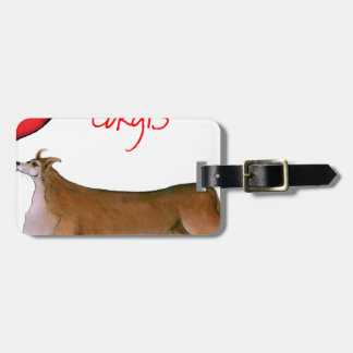 we luv corgis from Tony Fernandes Luggage Tag