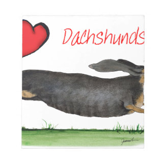 we luv dachshunds from Tony Fernandes Notepad