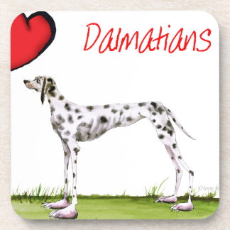 we luv dalmatians from Tony Fernandes Beverage Coasters
