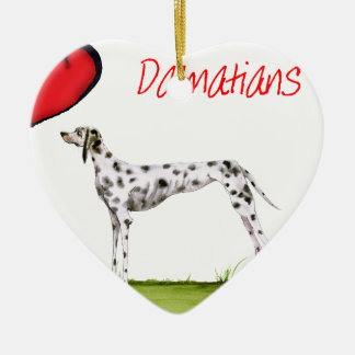 we luv dalmatians from Tony Fernandes Ceramic Heart Decoration