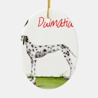 we luv dalmatians from Tony Fernandes Ceramic Oval Decoration