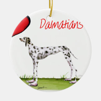 we luv dalmatians from Tony Fernandes Round Ceramic Decoration
