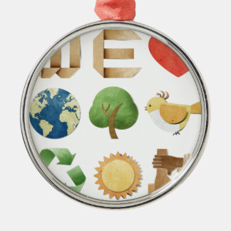 We luv earth collage  new age holistic natural ornaments