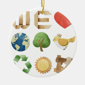 We luv earth collage  new age holistic natural christmas ornaments
