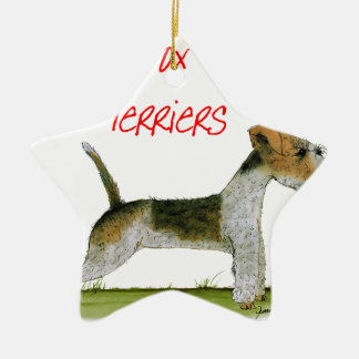we luv fox terriers from Tony Fernandes Christmas Ornament