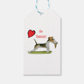 we luv fox terriers from Tony Fernandes Gift Tags