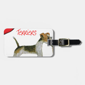 we luv fox terriers from Tony Fernandes Luggage Tag