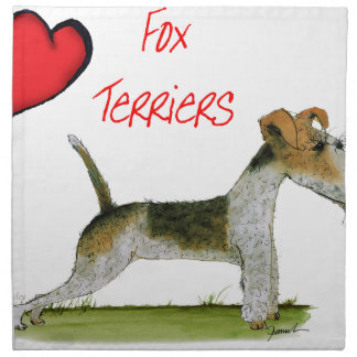 we luv fox terriers from Tony Fernandes Napkin