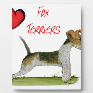we luv fox terriers from Tony Fernandes Plaque