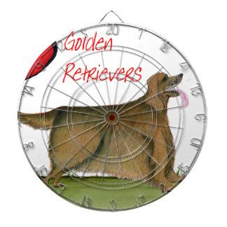 we luv golden retrievers from Tony Fernandes Dartboard With Darts
