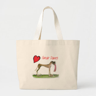 we luv great danes from Tony Fernandes Large Tote Bag