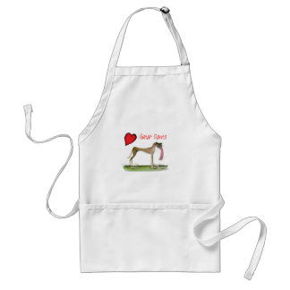we luv great danes from Tony Fernandes Standard Apron