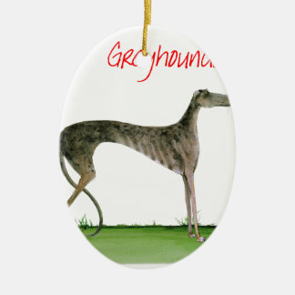 we luv greyhounds from Tony Fernandes Ceramic Oval Decoration