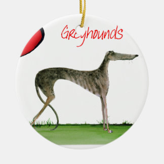 we luv greyhounds from Tony Fernandes Round Ceramic Decoration