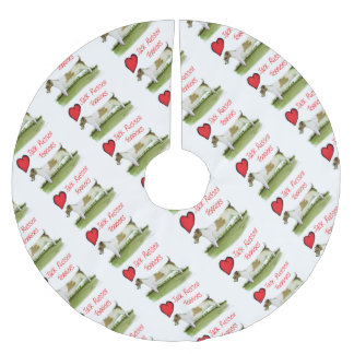 we luv jack russell terriers from Tony Fernandes Brushed Polyester Tree Skirt