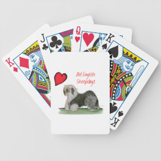 we luv old english sheepdogs, Tony Fernandes Bicycle Playing Cards