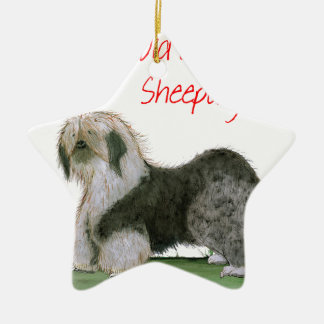 we luv old english sheepdogs, Tony Fernandes Christmas Ornament
