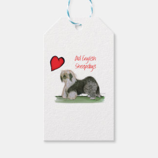 we luv old english sheepdogs, Tony Fernandes Gift Tags